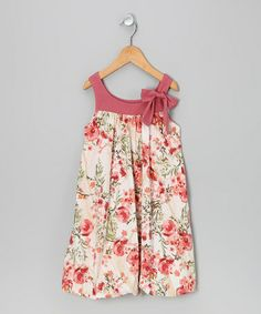 Take a look at this Mauve Floral Bubble Dress - Girls by Freckles + Kitty on #zulily today!