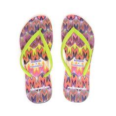 MISSONI Multi-coloured flip flops ($94) ❤ liked on Polyvore