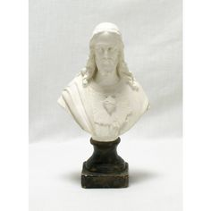 Jesus Sacre-Coeur Bust, French Religious Icon, Bust of Jesus Christ,... ($54) ❤ liked on Polyvore featuring home and home decor