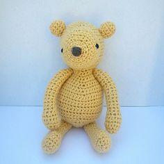 Crochet Pattern Amigurumi 'Classic Pooh' Inspired Bear by lindalu, $6.00