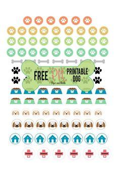 FREE PRINTABLE DOG - Adesivi a tema cane free printable stickers dog planner scrapbookink organization craft tutorial Planner Supplies, Scrapbook Supplies, Planner Ideas, Scrapbooking, Free Planner, Happy Planner, Bullet Journal Stickers, Printable Planner Stickers, Free Printables