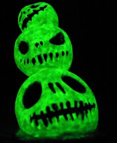 3 Glowing Skulls by TwoBlueRavens on Etsy, $10.00