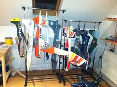Laundry racks for Plane storage
