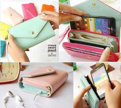 New Multi Propose Envelope Wallet Case Purse. I want the pink/mint one!