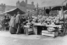 The Bull Ring flower market, on June 1st 1901