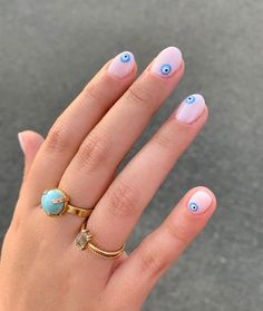 40 Stand-Out Summer 2020 Nail Designs That Will Brighten Your Day - SooShell Stylish Nails, Trendy Nails, Evil Eye Nails, Mens Nails, Short Gel Nails, Acylic Nails, Funky Nails, Fire Nails, Minimalist Nails