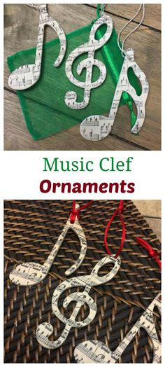 Okay, now I know what I'm getting my kids' piano teacher for Christmas this year! This set of wooden ornaments have a red ribbon for hanging and come in a pretty organza gift bag. #affiliate