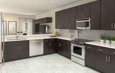 Our newest Lennar Urban kitchen exclusive to our West End townhomes!