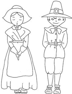 pilgrims embroidery pattern