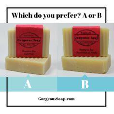 Which shampoo bar do you prefer...A or B?