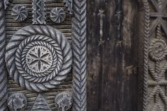 Symbols of the beautiful gates of Maramures in Romania Fences, Cnc, Folk Art, Gate, Carving, Symbols, Logos, Beautiful, Design