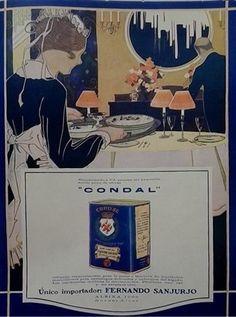 """Parece un exceso de refinamiento poner veladores delante de cada plato... Un aviso del aceite """"Condal""""."""