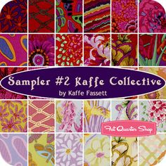 Sampler #2 Kaffe Collective Fat Quarter Bundle Kaffe Fassett for Westminster Fibers - Fat Quarter Shop
