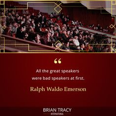 Becoming a great speaker takes practice, start practicing now. Self Development Courses, Training And Development, Personal Development, Inspirational Quotes About Success, Success Quotes, Life Quotes, Great Speakers, Brian Tracy, Affirmation Quotes