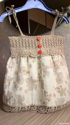 Psra idea e inspiración Vestido crochet bebé