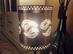 Lámpara reciclada 'Cachemira' #reciclaje #latas