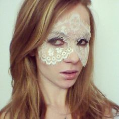 White Seethrough Lace Face Mask  Excellent for by MSaHeadbands, $26.00