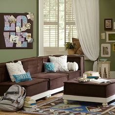 PB Teen Cushy Lounge Collection - Would love for a play room