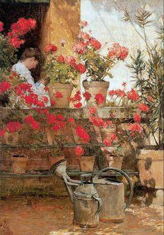 Childe Hassam    Geraniums    1888