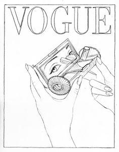 Arik Nepo pour Vogue Paris - illustration de Cédric Rivrain