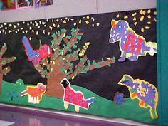 Mural using scrap paper, grade 1 (Art Teacher Donna Staten)