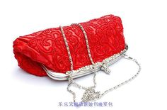 Red evening party bag.