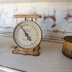 vintage kitchen scales Nashville Flea Market shopping trip with Petticoat Junktion