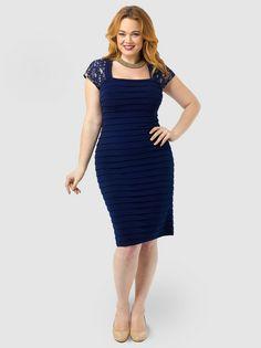 November 14th Launch Lace Shutter Sheath Dress by London Times 8186d6e19