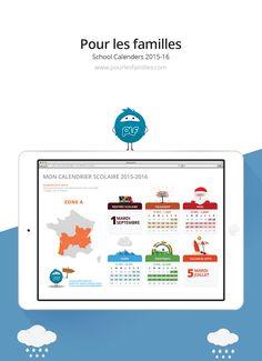School Calendars for PLF on Behance
