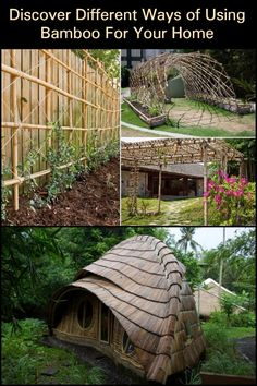 Discover Different Ways of Using Bamboo For Your Home. Framing Construction, Bamboo Construction, Home Design Diy, House Design, Interior Design, Building A Trellis, Bamboo House, Natural Homes, Diy Stuff