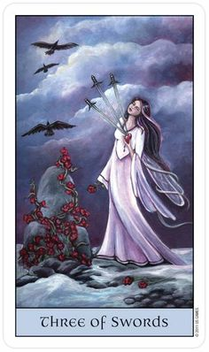 Crystal Visions Tarot - 3 Swords