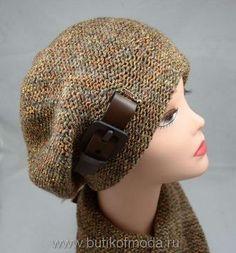 вязаный коричневый шарф и берет коричневого цвета женский комплект 2016 от производителя шарфов Vizi