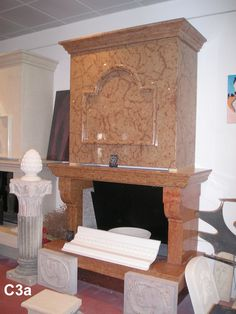 Fireplace in marble - http://www.achillegrassi.com/en/project/caminetto-in-marmo-rosso-di-asiago-lucido/ - Fireplace in red Asiago marble, polished Dimensions:  Fireplace: 170cm x 137cm(H) x 82cm Mantel: 170cm x 140cm(H) x 70cm