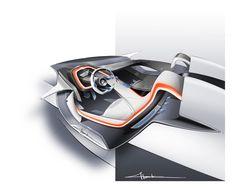 BMW Vision ConnectedDrive Concept - Interior design sketch
