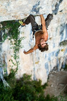 climb this with himmmmmm haha  Chris Sharma on Geminis - 14b - Rodellar, Spain.