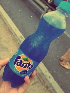 Did not know there was such a thing as blue fanta