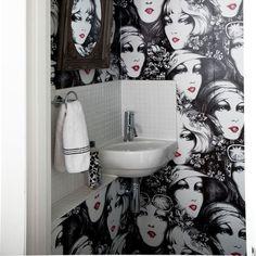 Striking wallpaper cloakrooms design | Cloakroom ideas | housetohome.co.uk