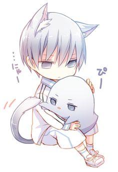 Kuroko no Basket ♥ (KNB) Mayuzumi Chihiro Anime Neko, Anime Cat Boy, Neko Boy, Chibi Boy, Anime Child, Cute Anime Chibi, Kawaii Chibi, Cute Anime Boy, Anime Art Girl