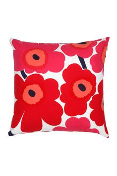 Pieni Unikko pillow sham by Marimekko; We already have one, but Gabby says we need another...in case a friend comes over!