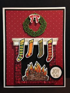 My Creative Corner!: A Festive Fireplace Christmas Card