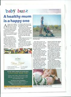 Article for Baby Buzz magazine Pregnancy Fruit, Physical Activities, Are You Happy, Improve Yourself, Magazine, Children, Baby, Young Children, Boys
