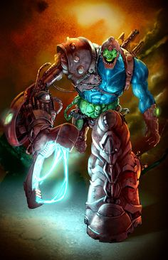 """""""JonBoy Trapjaw Paint"""", WIP by Billy Dallas Patton 
