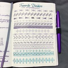 Bullet journal dividers