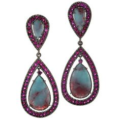Angry Skies in Paraiba Tourmaline and Ruby by Graziela Gems by ButterflyAi