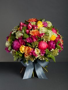 Pimm's O'clock Inspired by jugs of Pimm's in the sun, this delicious bouquet includes fresh mint and bright seasonal peonies and roses. Prices from £75