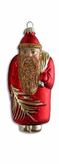 Blown glass Santa from Lauscha, Germany