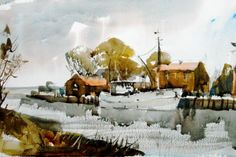John Hoar, watercolour painting, art instruction, landscape painting ...