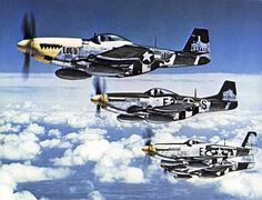 P-51s of tge 375th Fighter Squadron, 361st FG, Eighth Air Force, 26 July 1944.