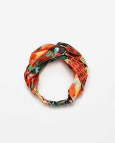 those colors <3  Image 2 of TROPICAL PRINT TURBAN from Zara