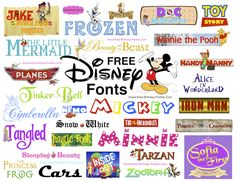 Free Disney Fonts-Over 85 Disney Fonts, including Disney Princess, Mickey…